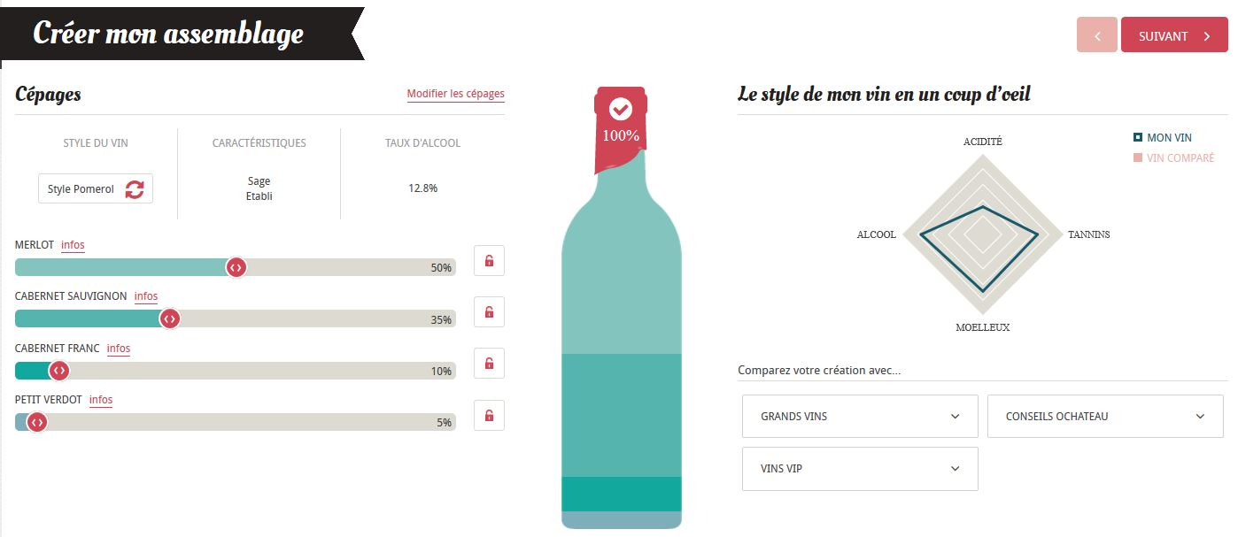 La cuvée 2015 Romainpris, bouteille de vin et étiquette personnalisées.
