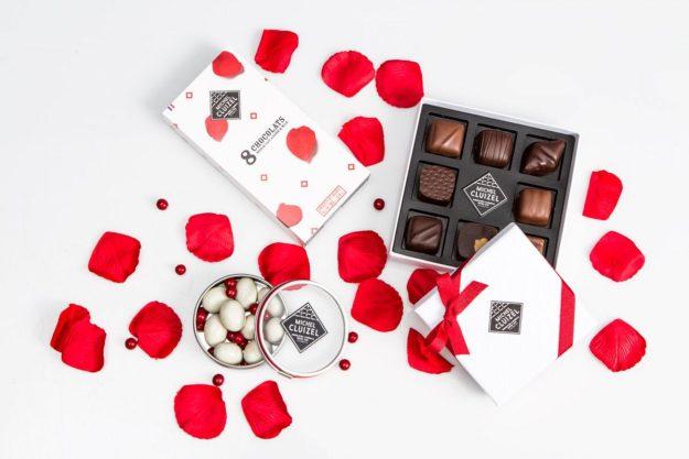 Coffret chocolats Saint Valentin Manufacture CLUIZEL