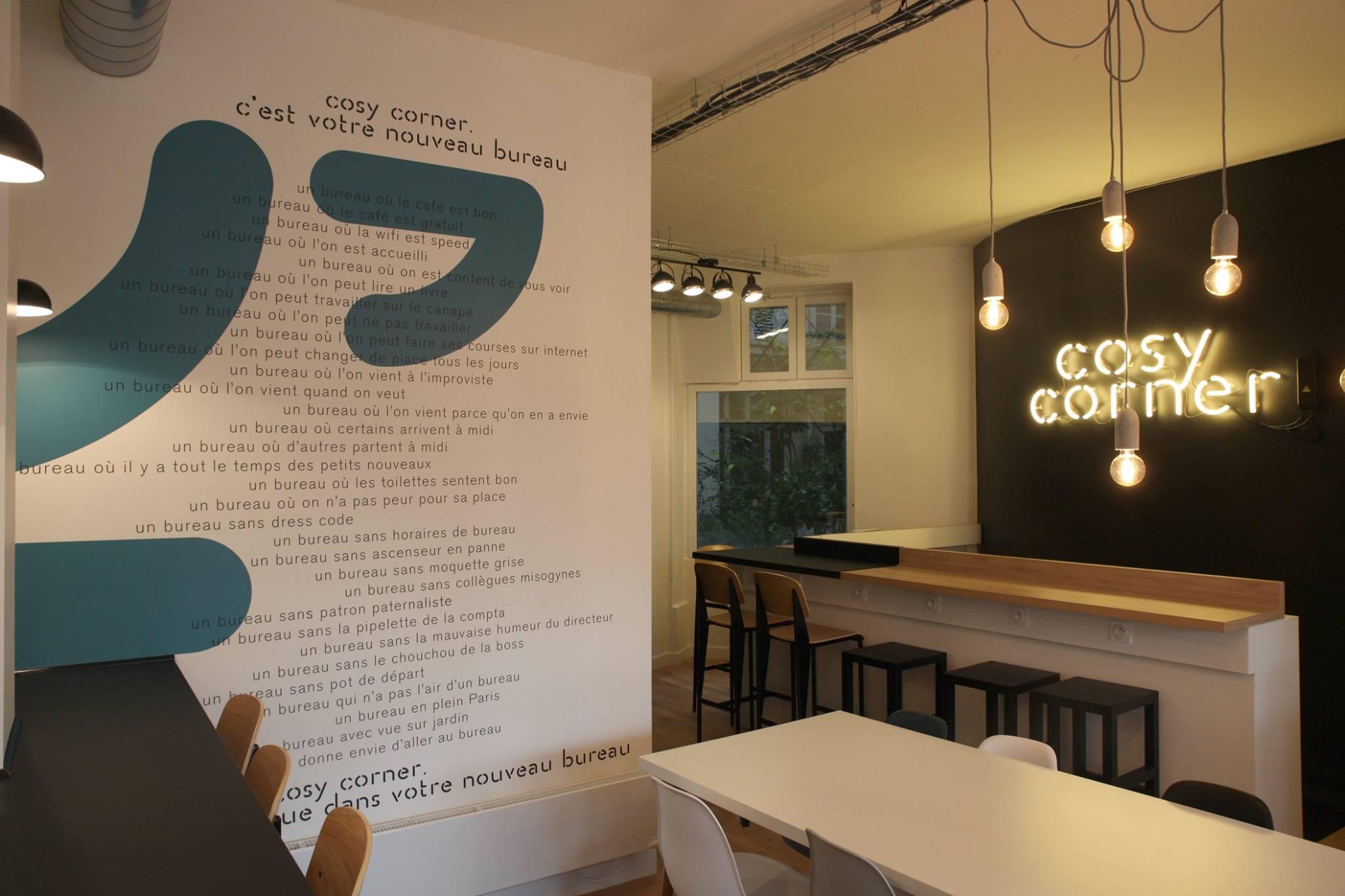 cosy corner coworking au c ur de paris romain paris. Black Bedroom Furniture Sets. Home Design Ideas
