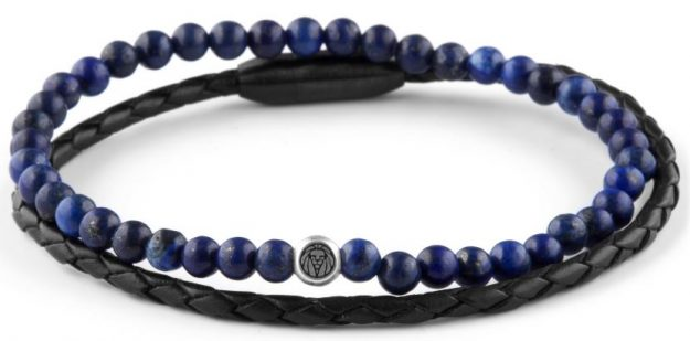 Double bracelet homme William marine