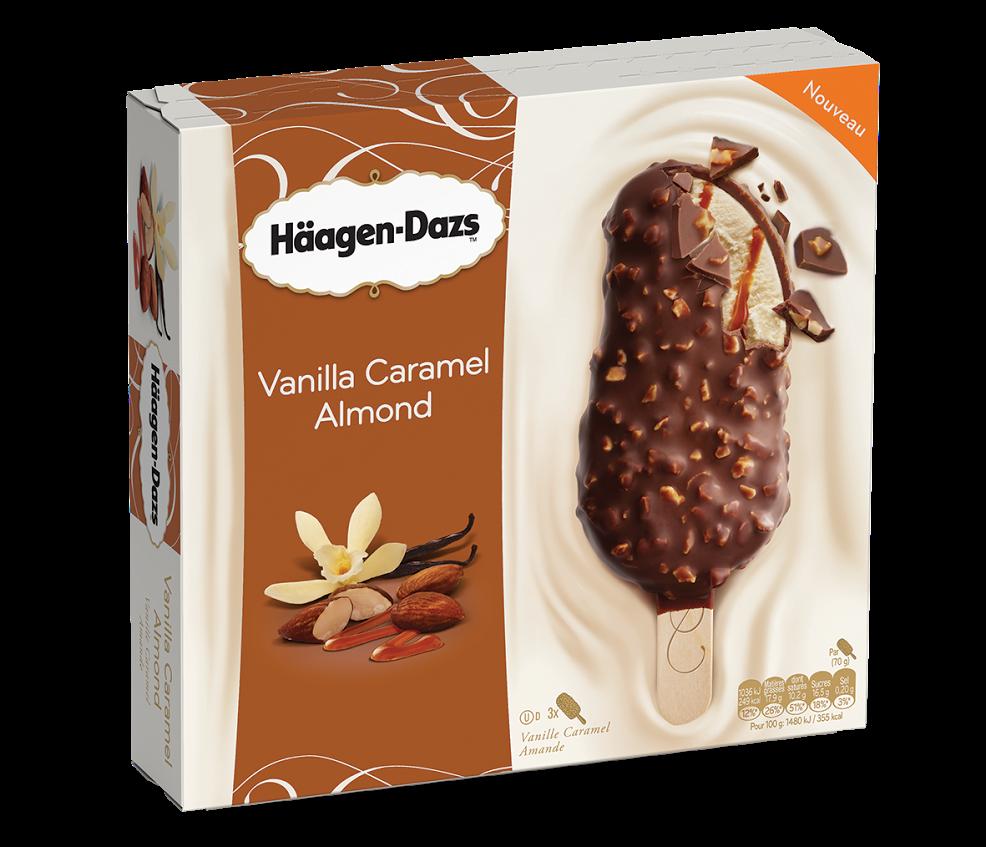 Nouveauté glace Häagen-Dazs Vannile Caramel Amandes