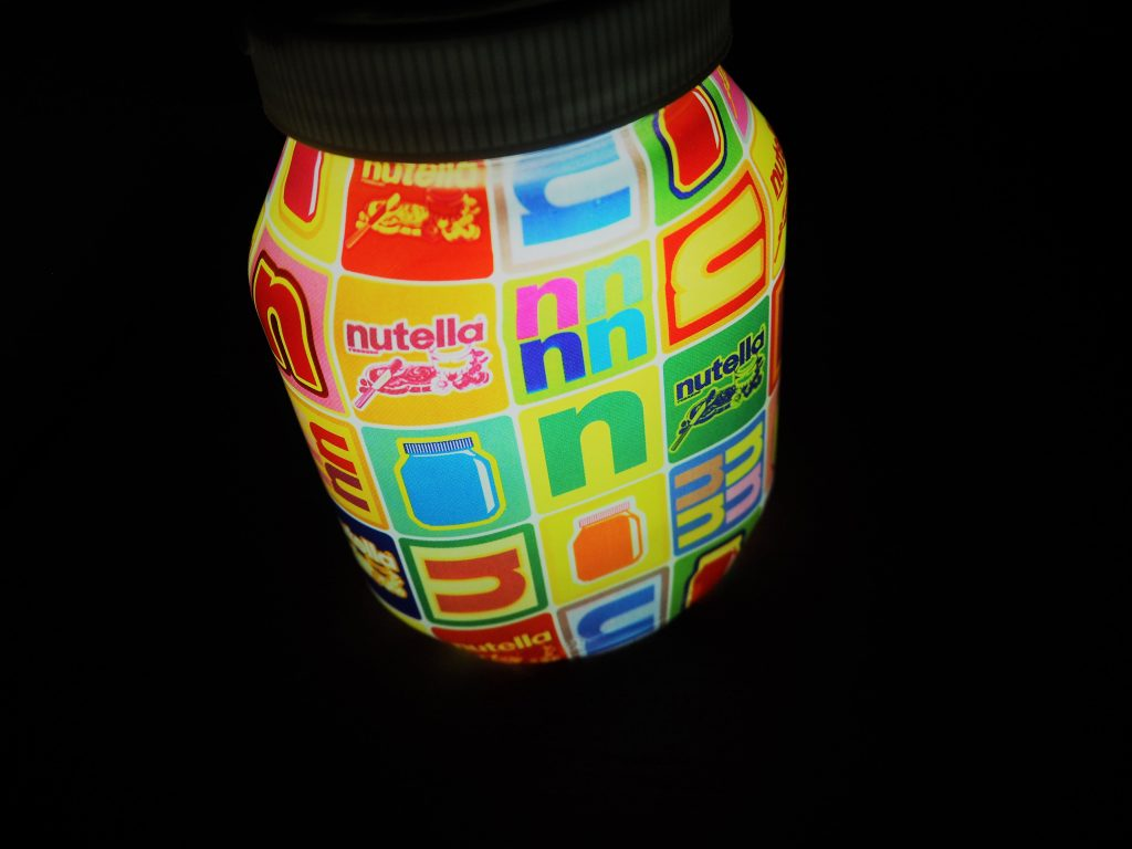 Bon plan gratuit la lampe tactile nutella romain paris - Lampe pot de nutella ...