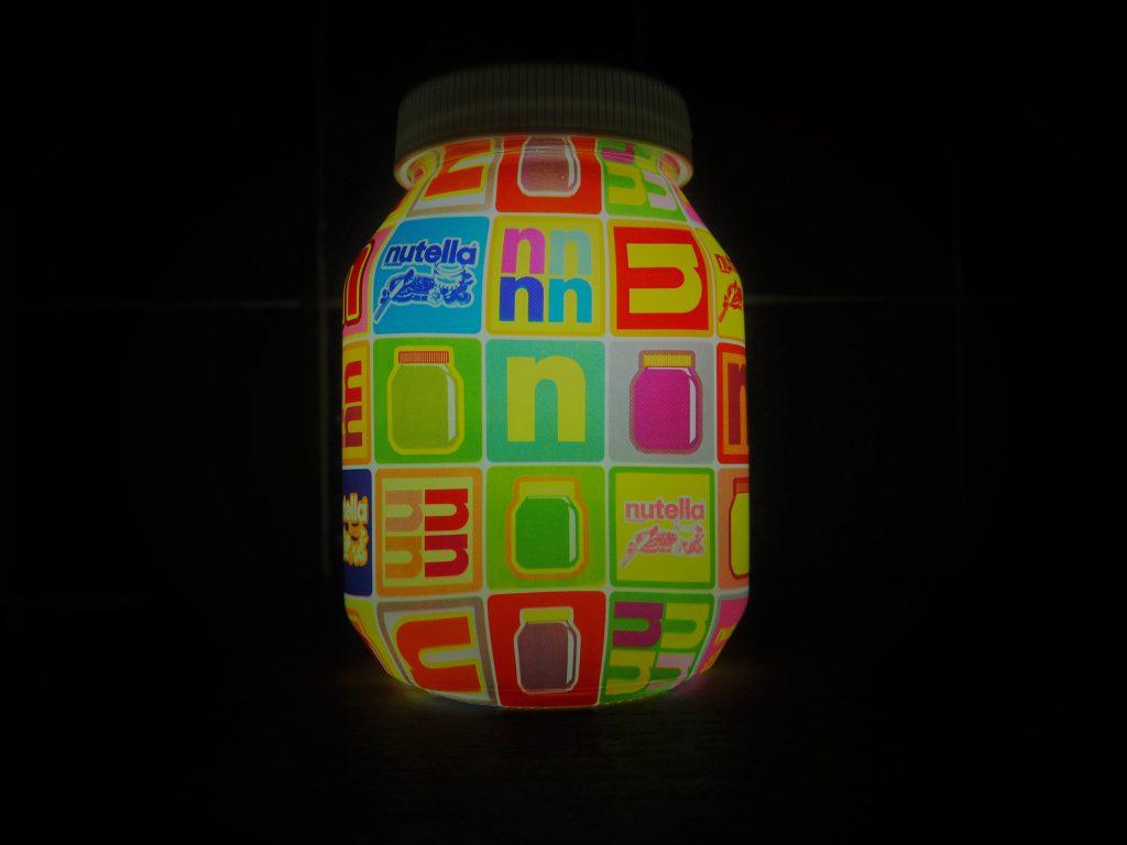 Nutella lampe tactile pop objet collector gratuit