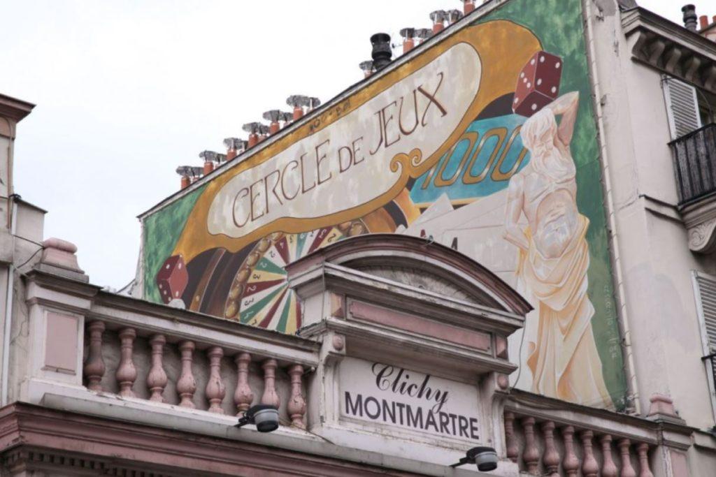 Paris Clichy Montmartre façade ancien cercle de jeux