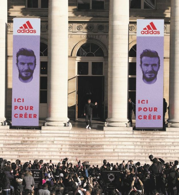Paris Palais Brogniart workshop ADIDAS David Beckham