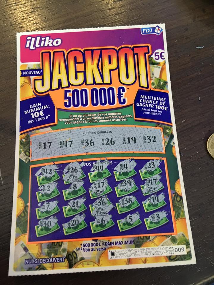 Lettre Gagnante Jackpot