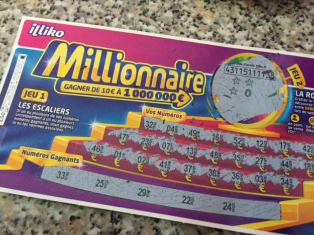 Ticket gagnant Millionnaire 3 étoiles