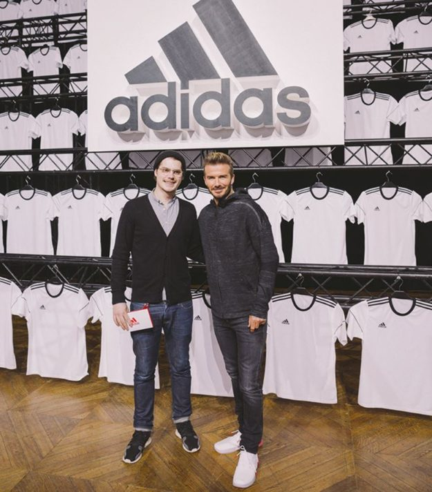 Workshop atelier créateur ADIDAS David Beckham 6 mars 2018