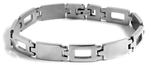 Bracelet gourmette acier homme