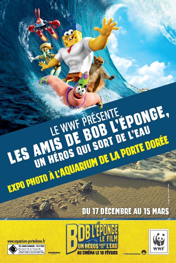 Paris expo aquarium porte dor e les amis de bob l 39 ponge romain paris - L escargot de bob l eponge ...